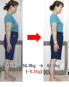 8.5kg減女性